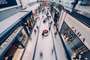 Shopping fashion high street